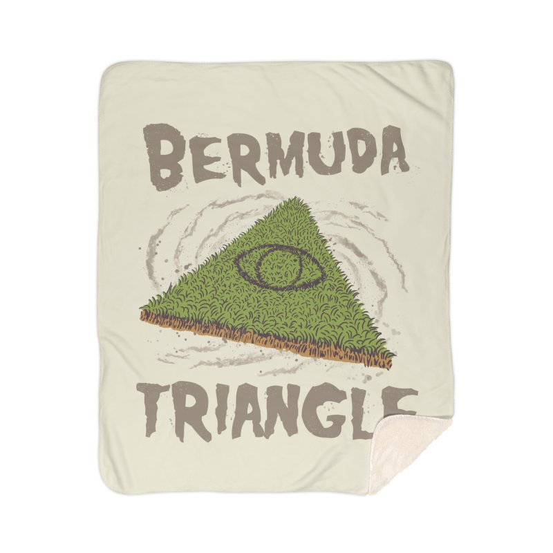 Bermuda Triangle Home Sherpa Blanket Blanket by Vincent Trinidad Art
