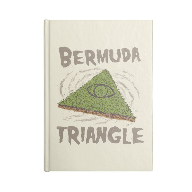 Bermuda Triangle Accessories Blank Journal Notebook by Vincent Trinidad Art