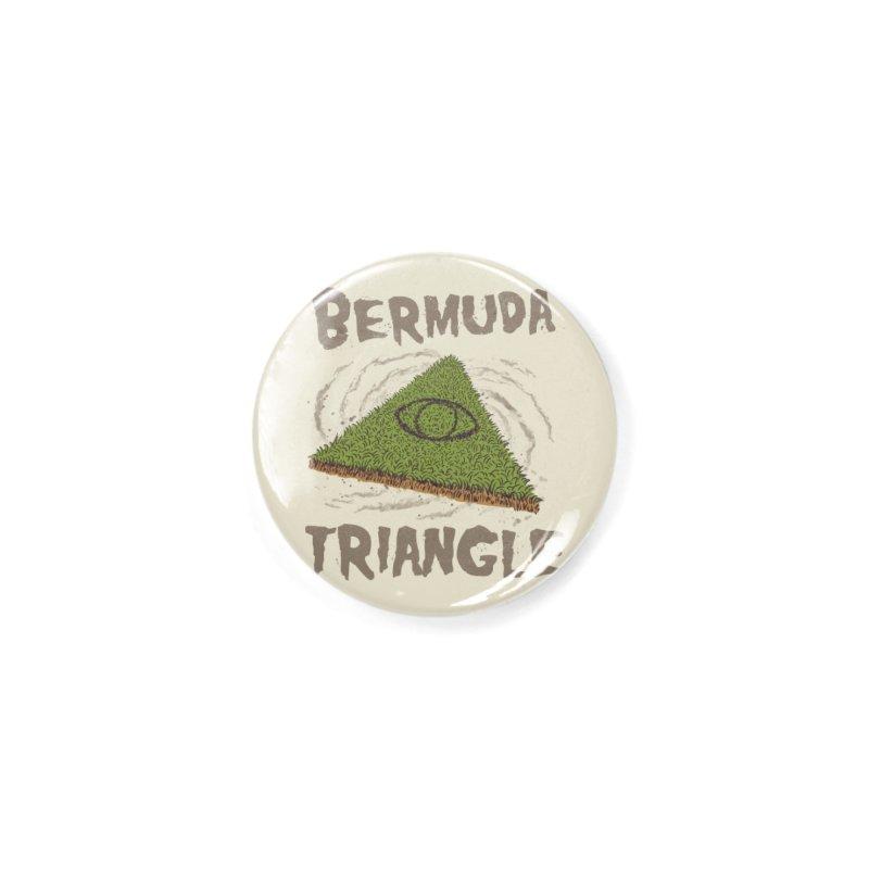 Bermuda Triangle Accessories Button by Vincent Trinidad Art