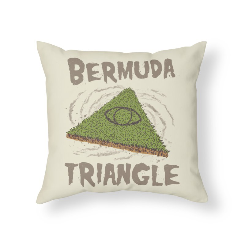 Bermuda Triangle Home Throw Pillow by Vincent Trinidad Art