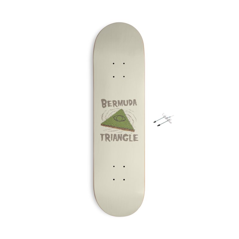 Bermuda Triangle Accessories With Hanging Hardware Skateboard by Vincent Trinidad Art