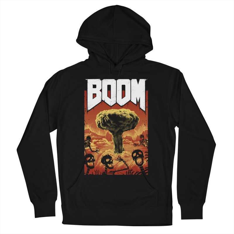 Boom! Men's French Terry Pullover Hoody by Vincent Trinidad Art