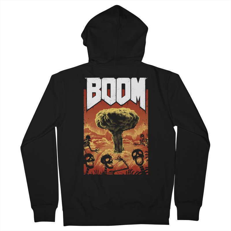 Boom! Men's French Terry Zip-Up Hoody by Vincent Trinidad Art