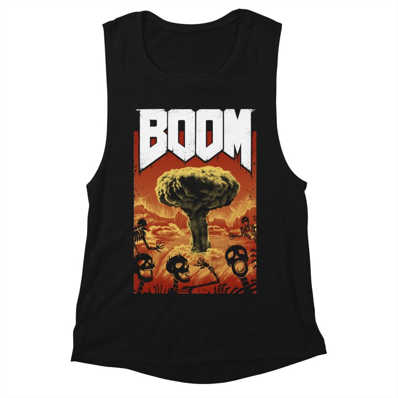 Boom! Women's Muscle Tank by Vincent Trinidad Art