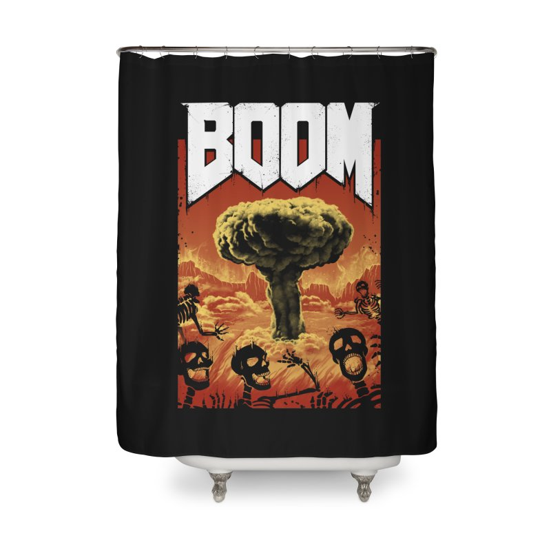 Boom! Home Shower Curtain by Vincent Trinidad Art