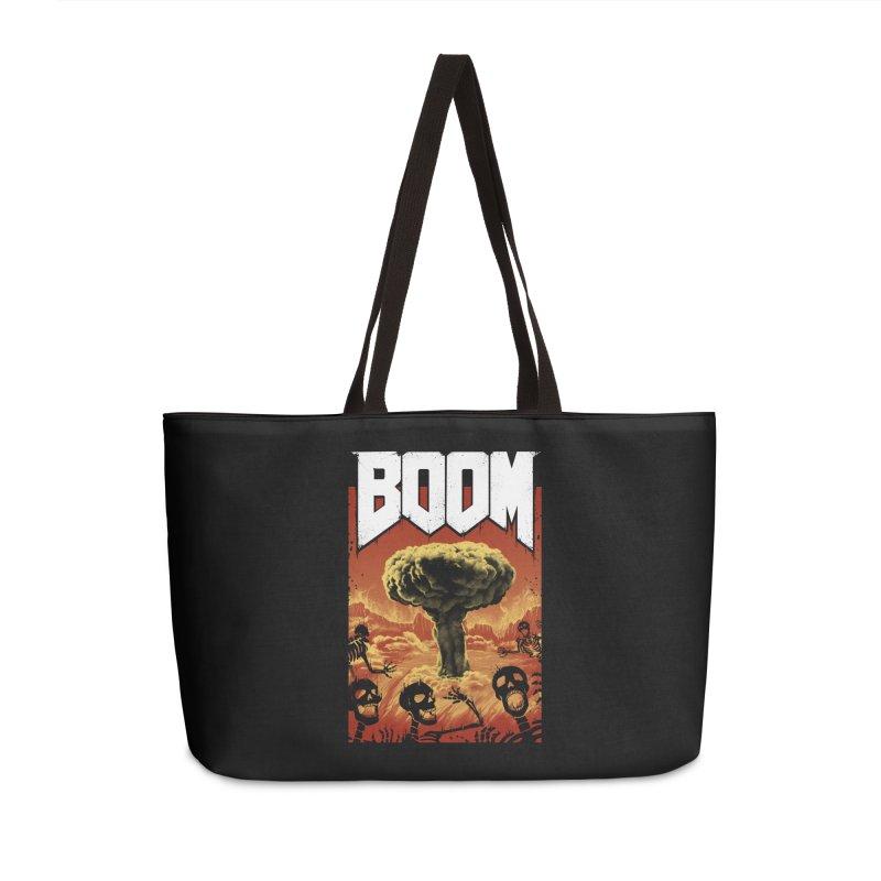 Boom! Accessories Weekender Bag Bag by Vincent Trinidad Art