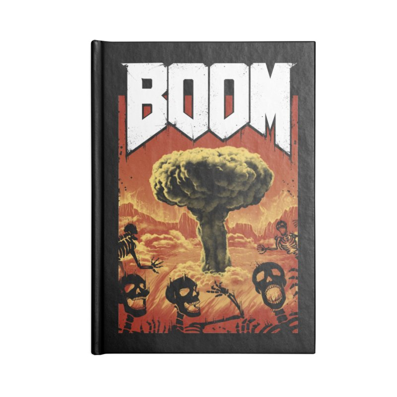 Boom! Accessories Blank Journal Notebook by Vincent Trinidad Art