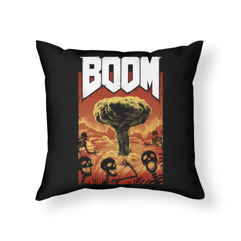 Boom! Home Throw Pillow by Vincent Trinidad Art