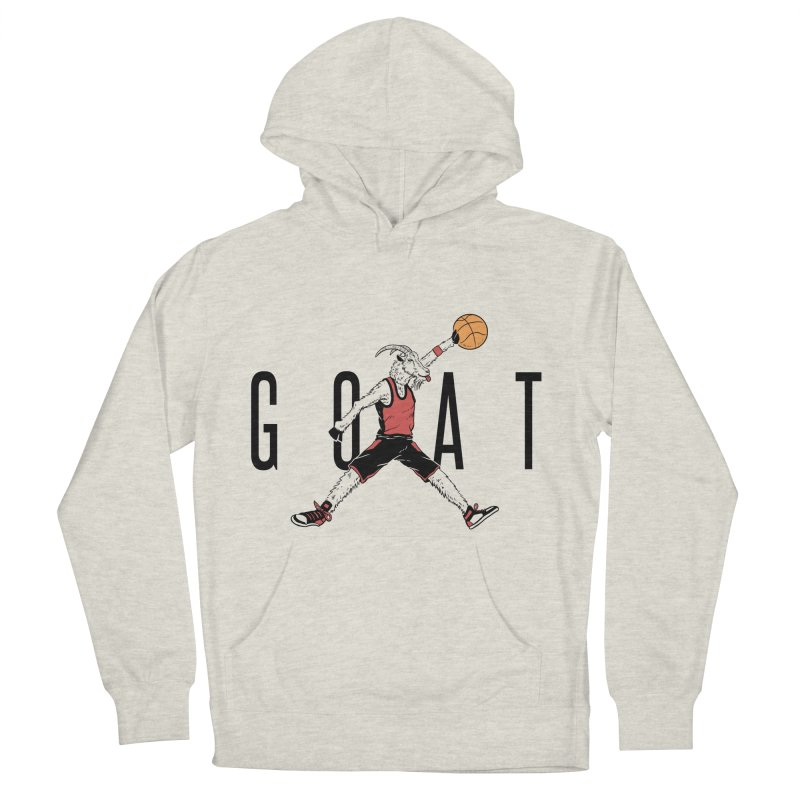 The G.O.A.T Men's French Terry Pullover Hoody by Vincent Trinidad Art