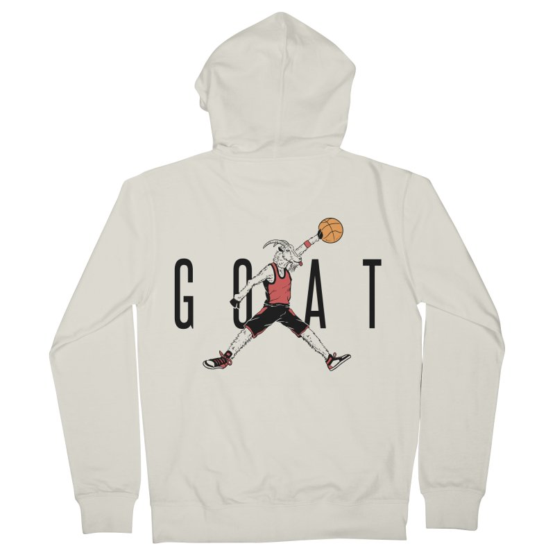The G.O.A.T Men's French Terry Zip-Up Hoody by Vincent Trinidad Art