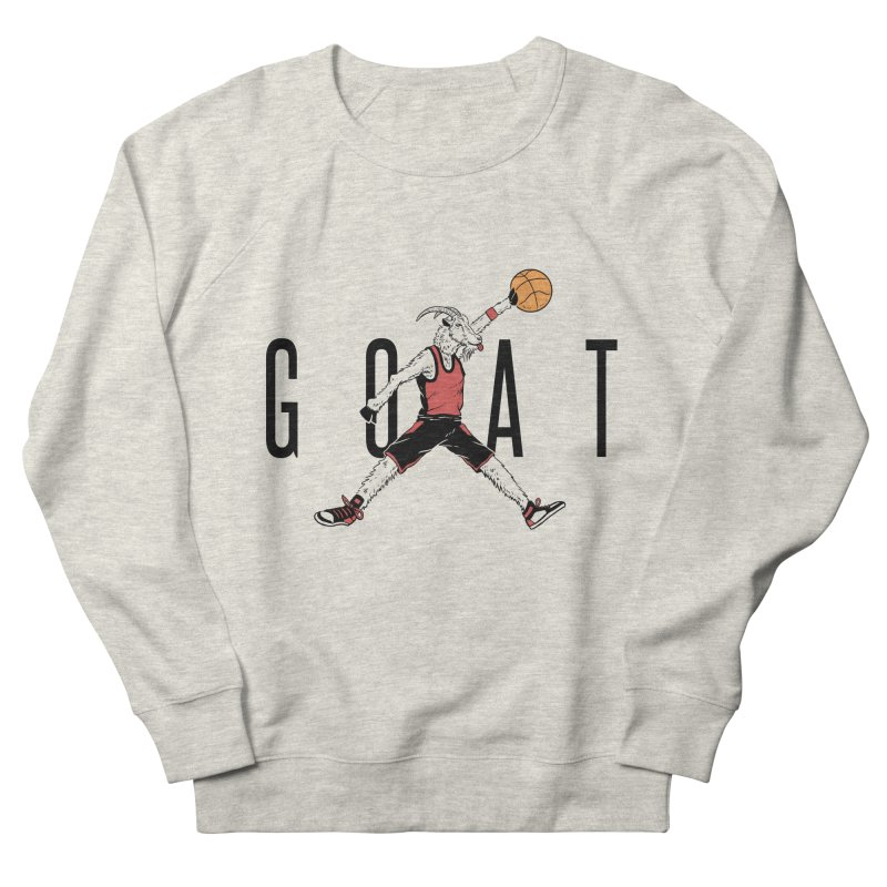 The G.O.A.T Men's French Terry Sweatshirt by Vincent Trinidad Art