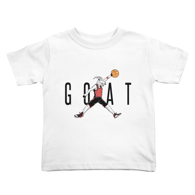 The G.O.A.T Kids Toddler T-Shirt by Vincent Trinidad Art