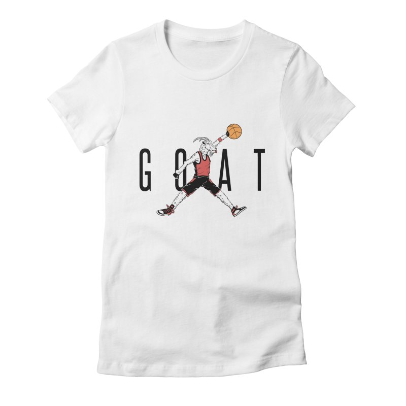 The G.O.A.T Women's Fitted T-Shirt by Vincent Trinidad Art