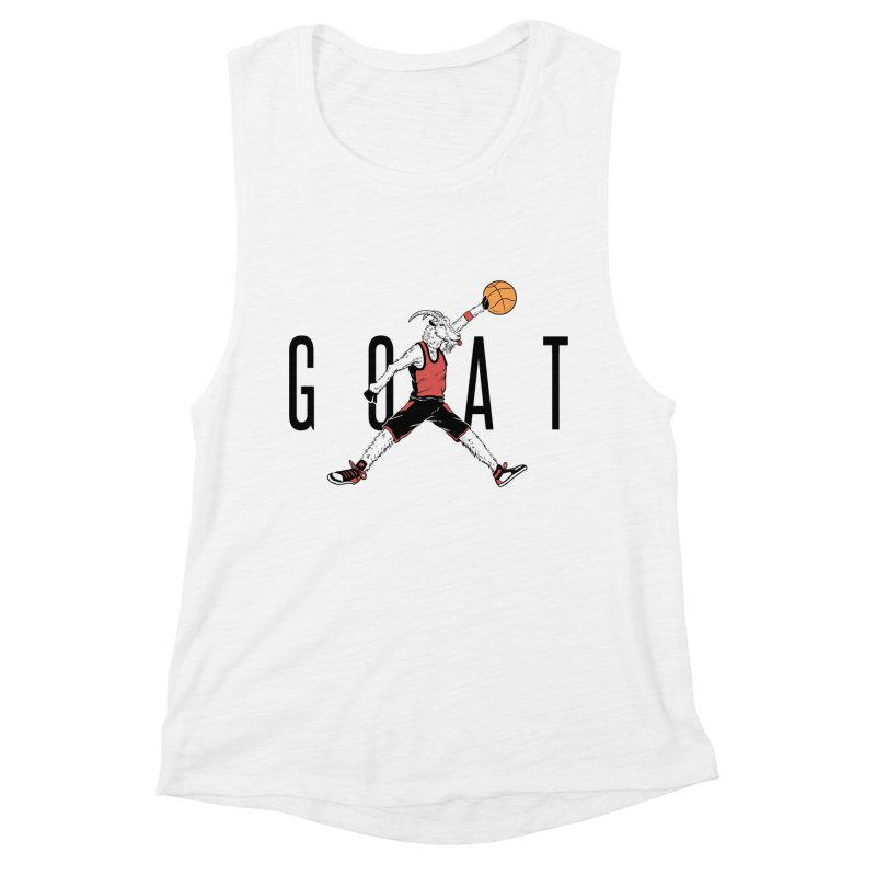 The G.O.A.T Women's Muscle Tank by Vincent Trinidad Art