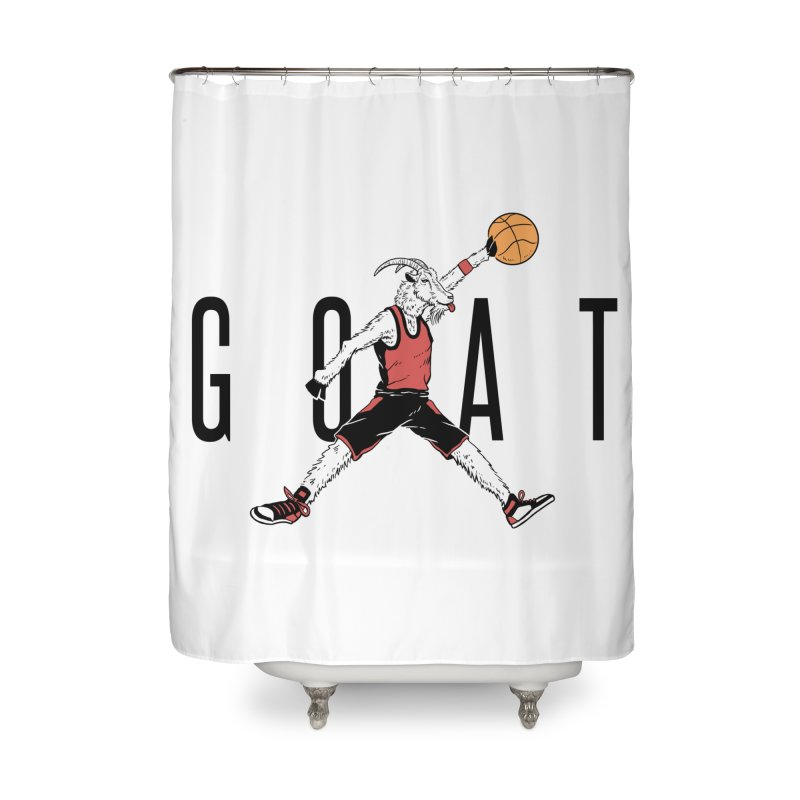 The G.O.A.T Home Shower Curtain by Vincent Trinidad Art