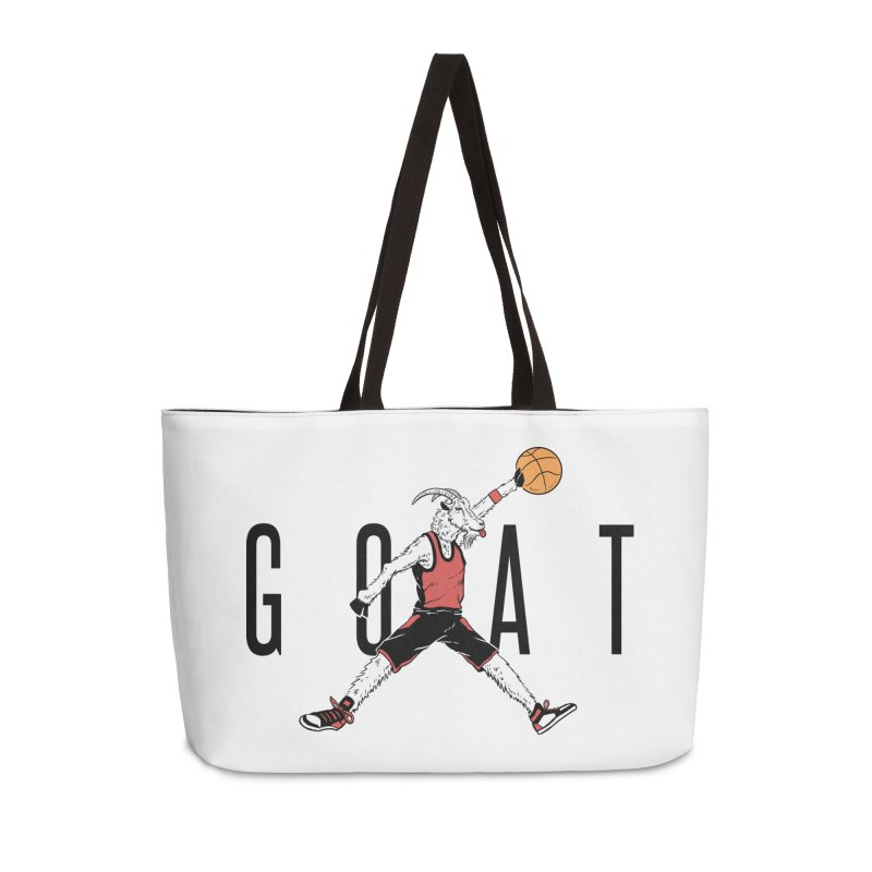 The G.O.A.T Accessories Weekender Bag Bag by Vincent Trinidad Art