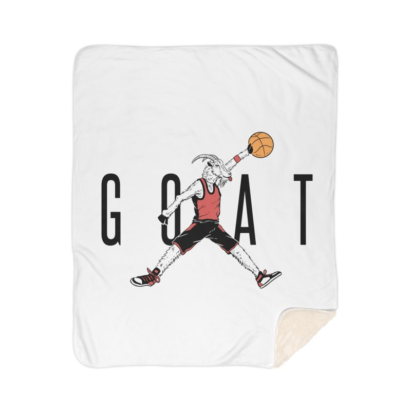The G.O.A.T Home Sherpa Blanket Blanket by Vincent Trinidad Art