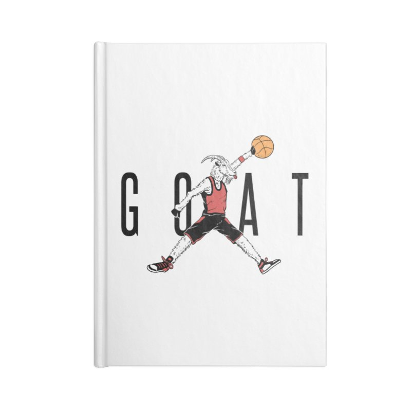 The G.O.A.T Accessories Blank Journal Notebook by Vincent Trinidad Art