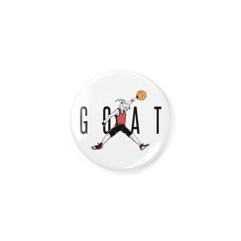 The G.O.A.T Accessories Button by Vincent Trinidad Art