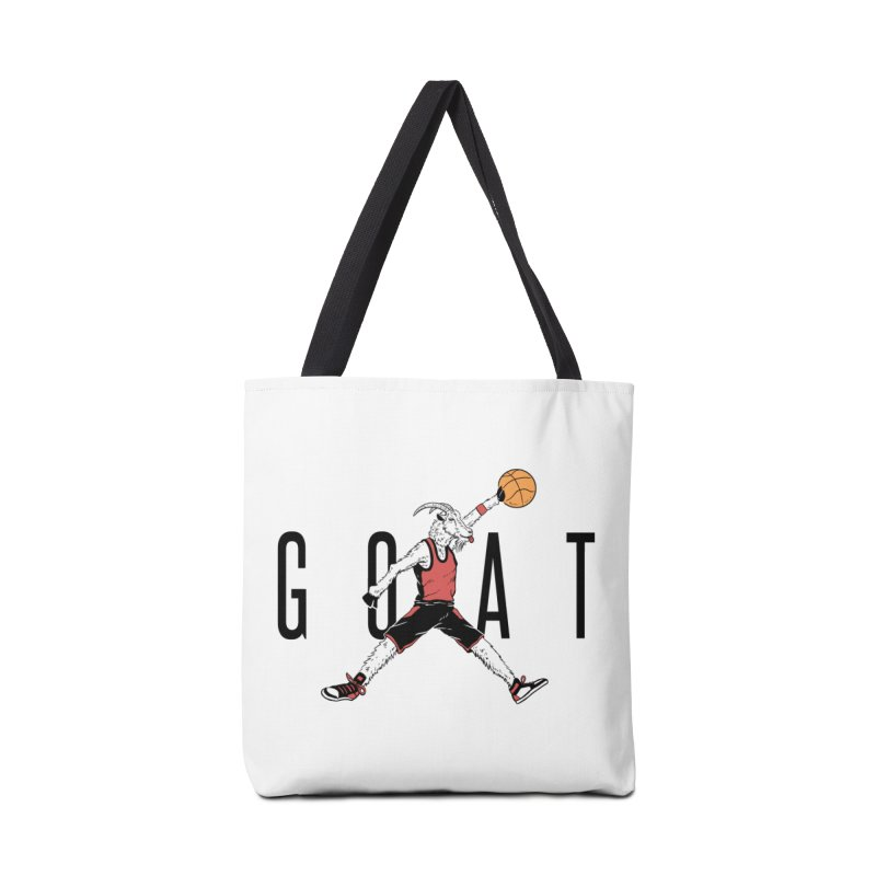 The G.O.A.T Accessories Tote Bag Bag by Vincent Trinidad Art