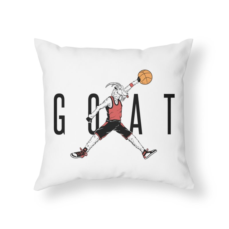 The G.O.A.T Home Throw Pillow by Vincent Trinidad Art