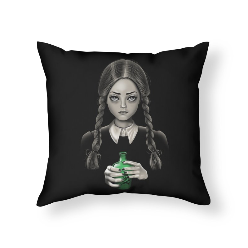 Death Bores Me Home Throw Pillow by Vincent Trinidad Art