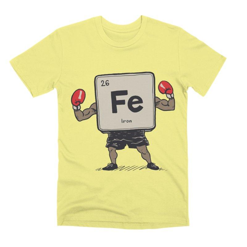 Iron the Boxer Men's Premium T-Shirt by Vincent Trinidad Art