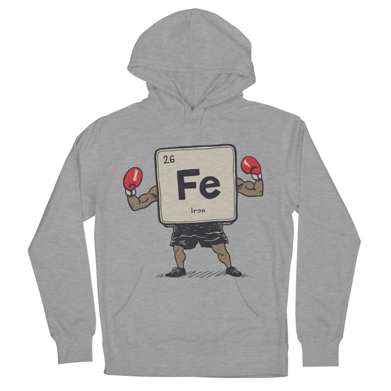 Iron the Boxer Men's French Terry Pullover Hoody by Vincent Trinidad Art