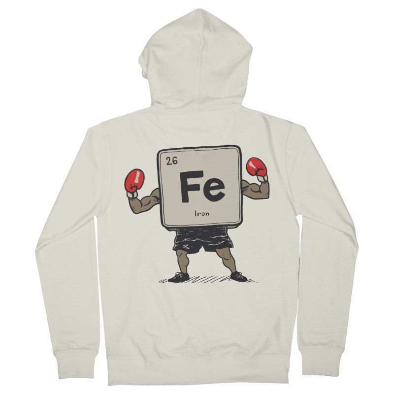 Iron the Boxer Women's French Terry Zip-Up Hoody by Vincent Trinidad Art