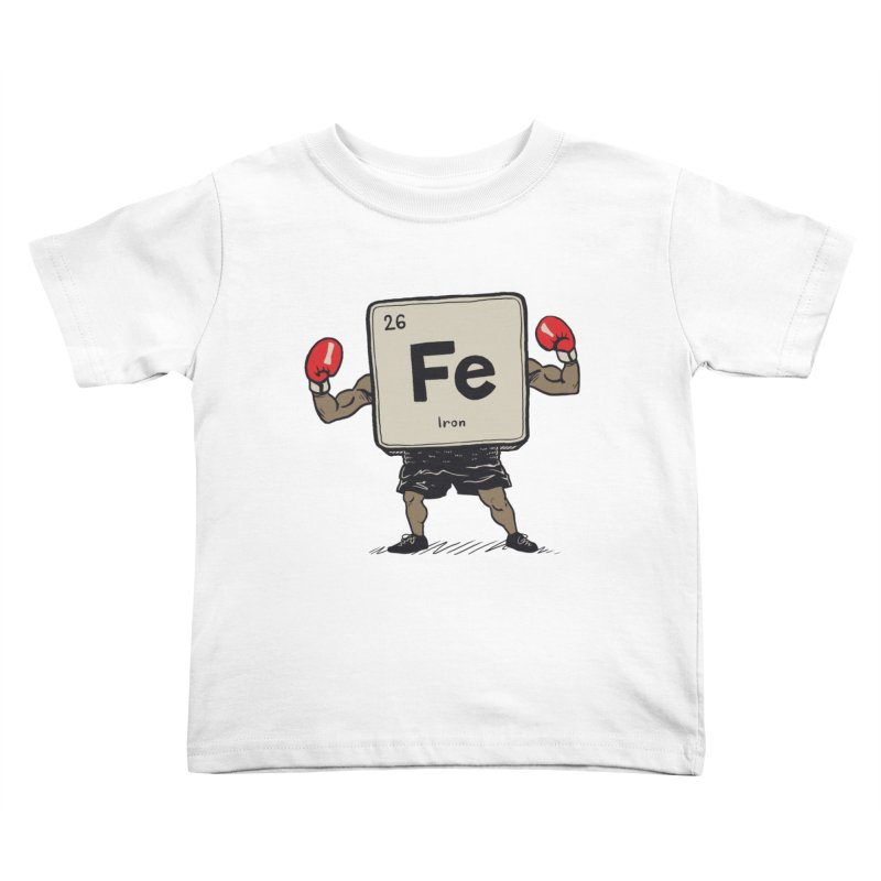 Iron the Boxer Kids Toddler T-Shirt by Vincent Trinidad Art