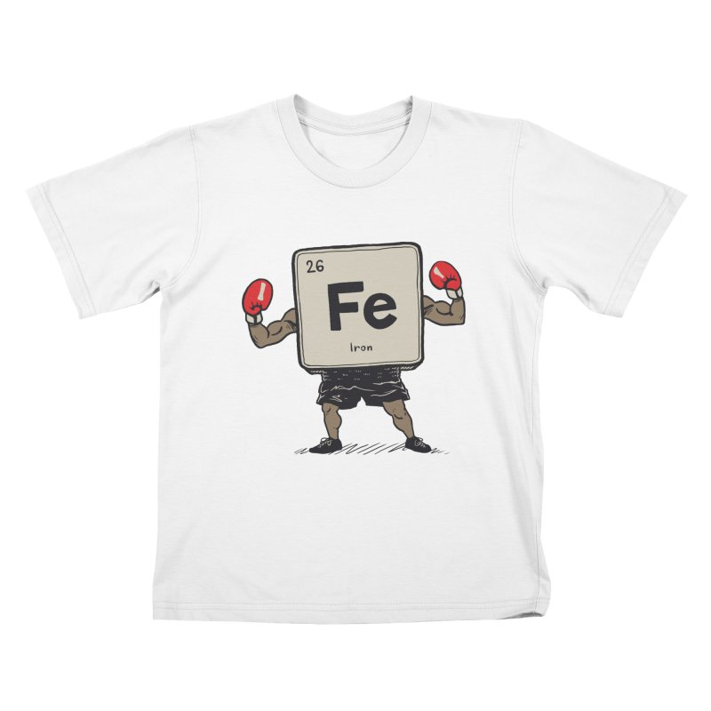 Iron the Boxer Kids T-Shirt by Vincent Trinidad Art