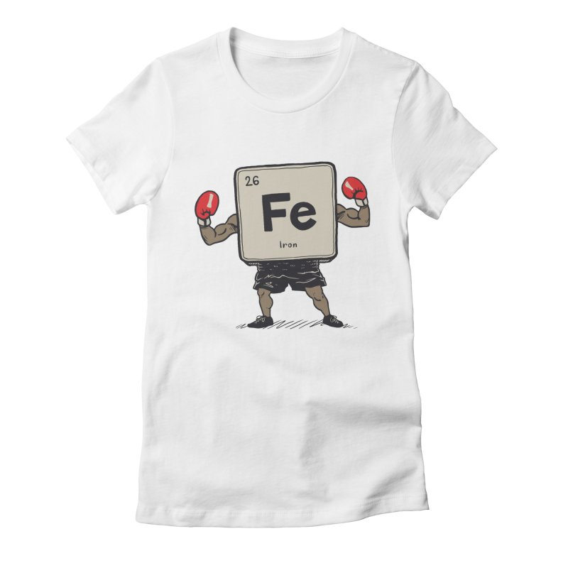 Iron the Boxer Women's Fitted T-Shirt by Vincent Trinidad Art