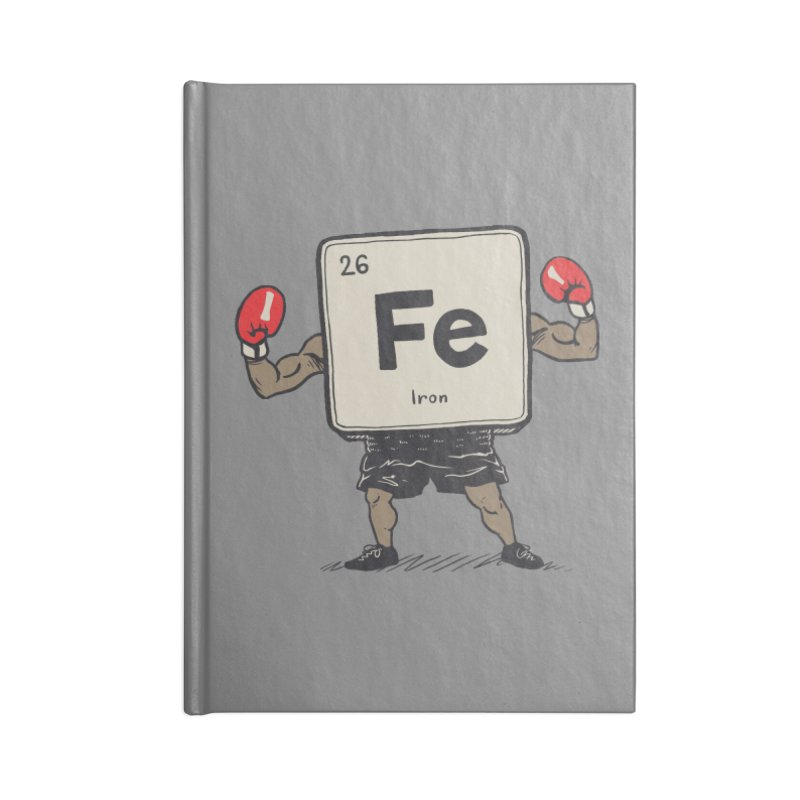 Iron the Boxer Accessories Blank Journal Notebook by Vincent Trinidad Art