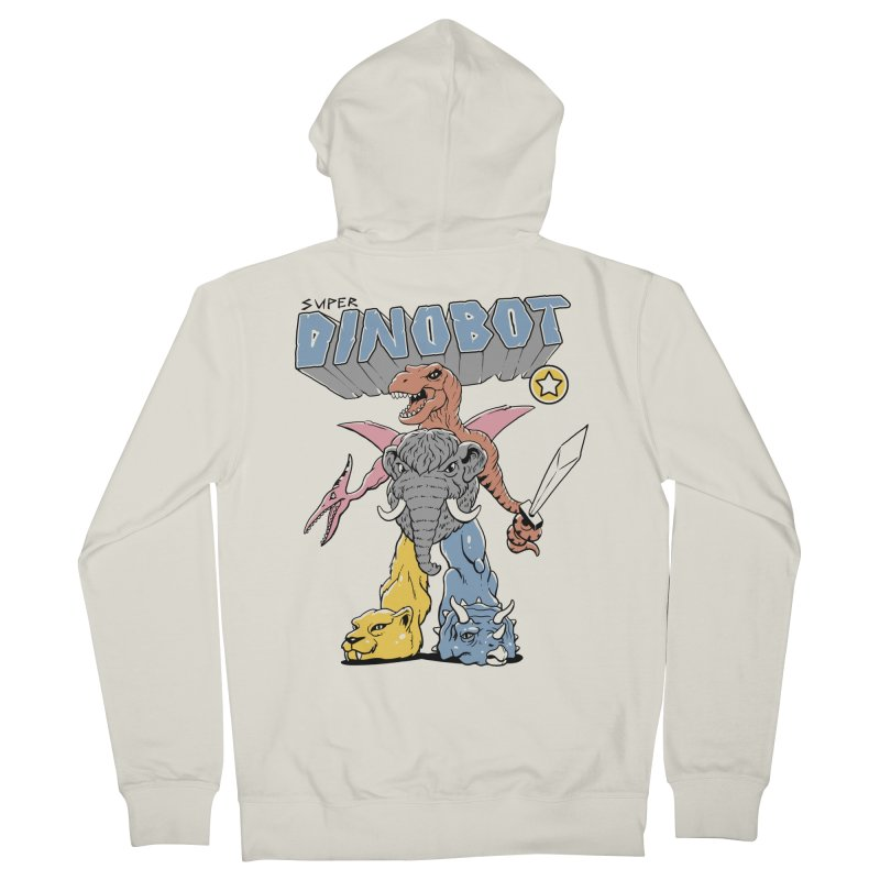 Super Dino Bot Men's French Terry Zip-Up Hoody by Vincent Trinidad Art