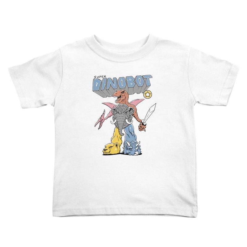 Super Dino Bot Kids Toddler T-Shirt by Vincent Trinidad Art