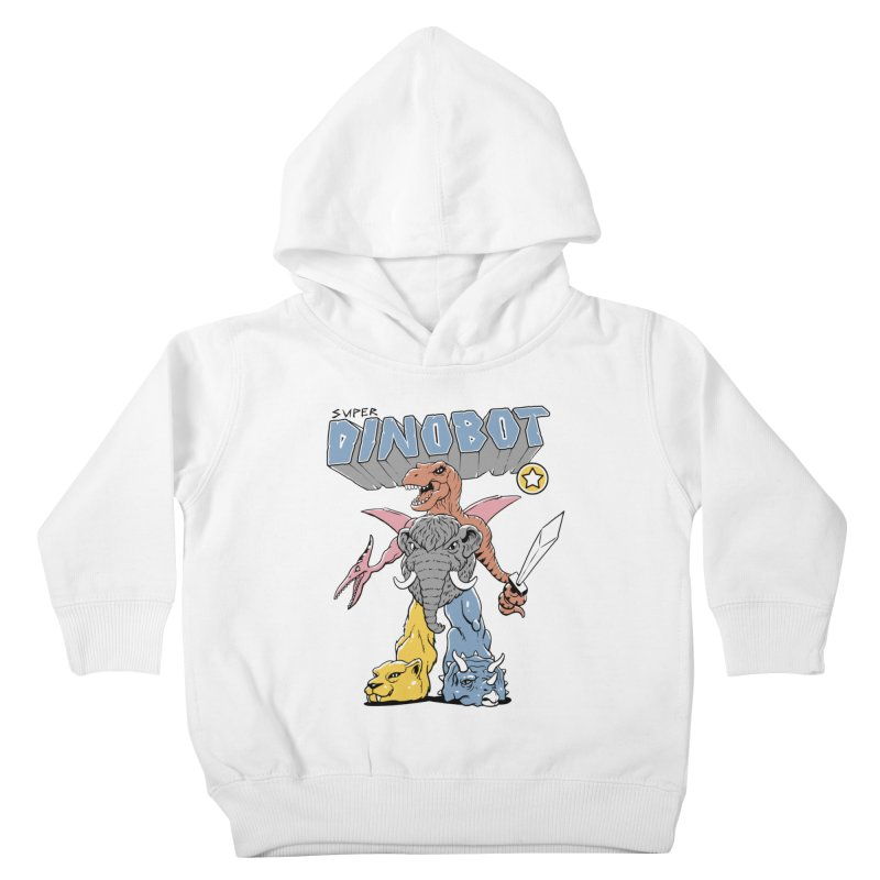 Super Dino Bot Kids Toddler Pullover Hoody by Vincent Trinidad Art