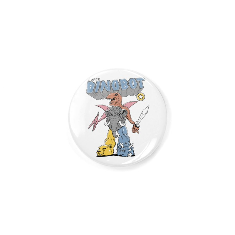 Super Dino Bot Accessories Button by Vincent Trinidad Art