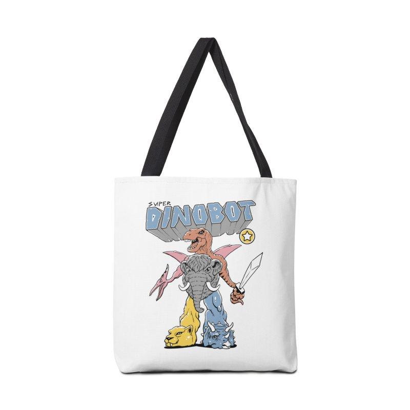Super Dino Bot Accessories Tote Bag Bag by Vincent Trinidad Art