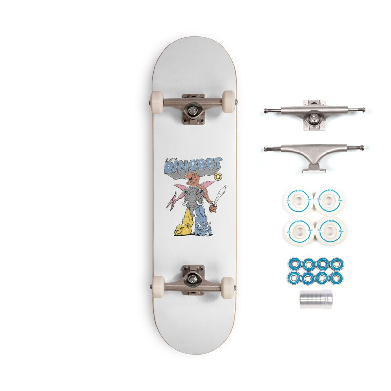 Super Dino Bot Accessories Complete - Basic Skateboard by Vincent Trinidad Art