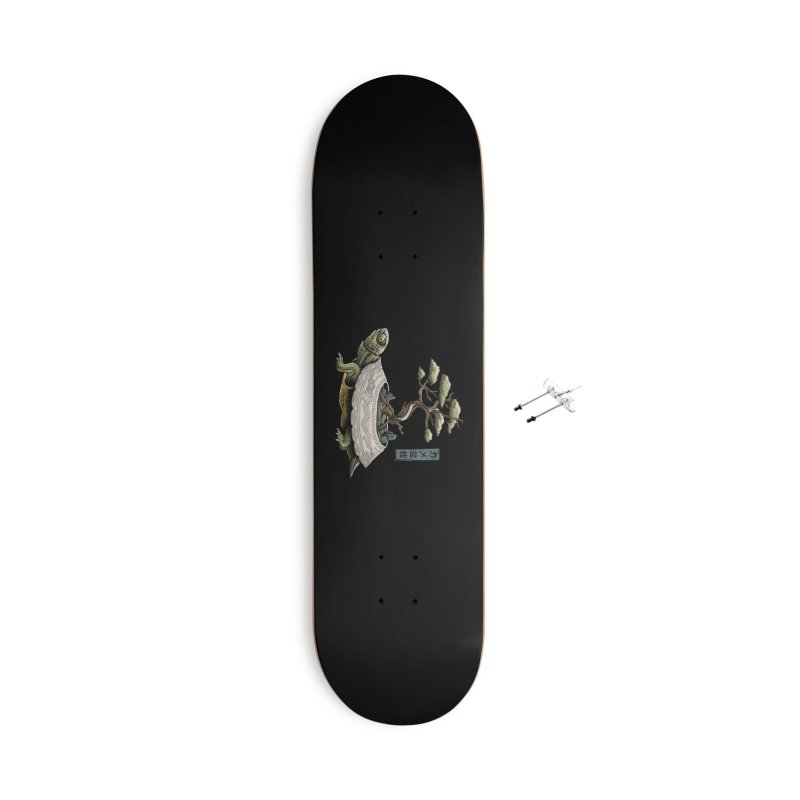 The Legendary Kame Accessories With Hanging Hardware Skateboard by Vincent Trinidad Art