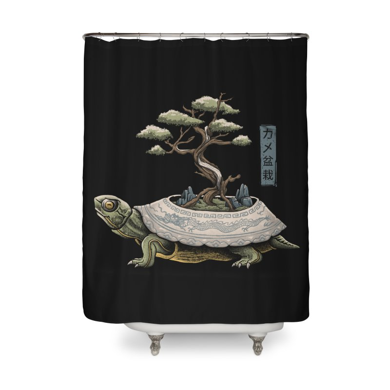 The Legendary Kame Home Shower Curtain by Vincent Trinidad Art