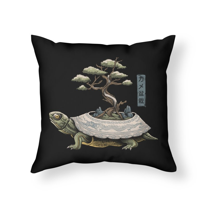 The Legendary Kame Home Throw Pillow by Vincent Trinidad Art
