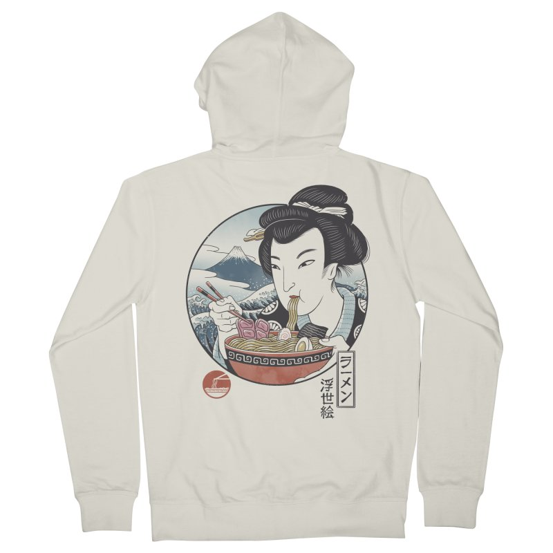 A Taste of Japan Men's French Terry Zip-Up Hoody by Vincent Trinidad Art