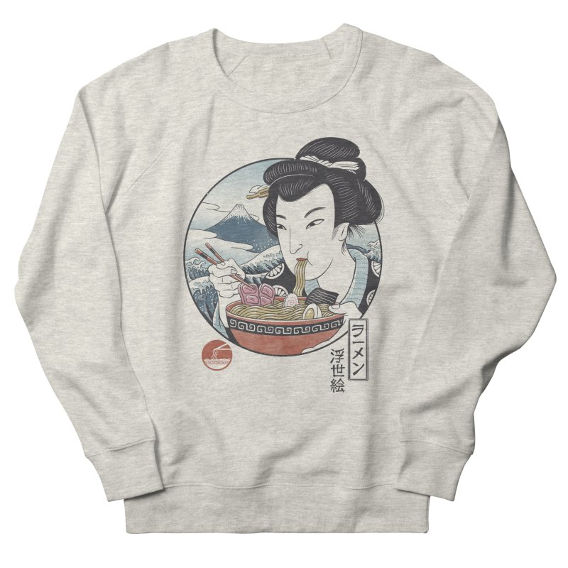 A Taste of Japan Women's French Terry Sweatshirt by Vincent Trinidad Art