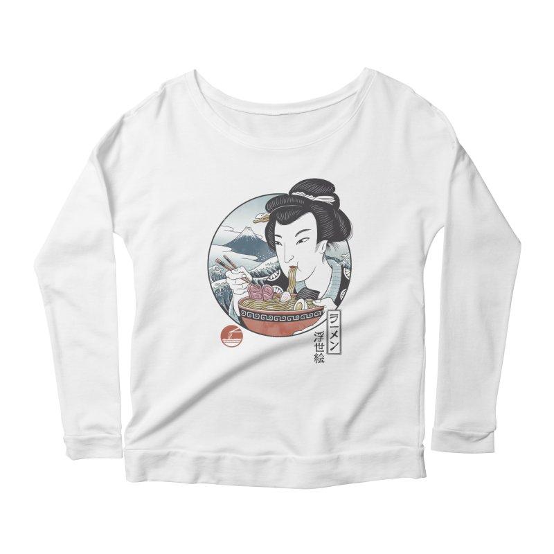A Taste of Japan Women's Scoop Neck Longsleeve T-Shirt by Vincent Trinidad Art