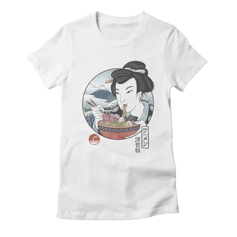 A Taste of Japan Women's Fitted T-Shirt by Vincent Trinidad Art
