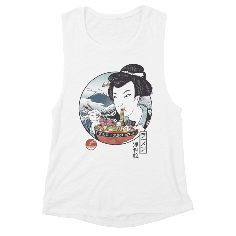 A Taste of Japan Women's Muscle Tank by Vincent Trinidad Art
