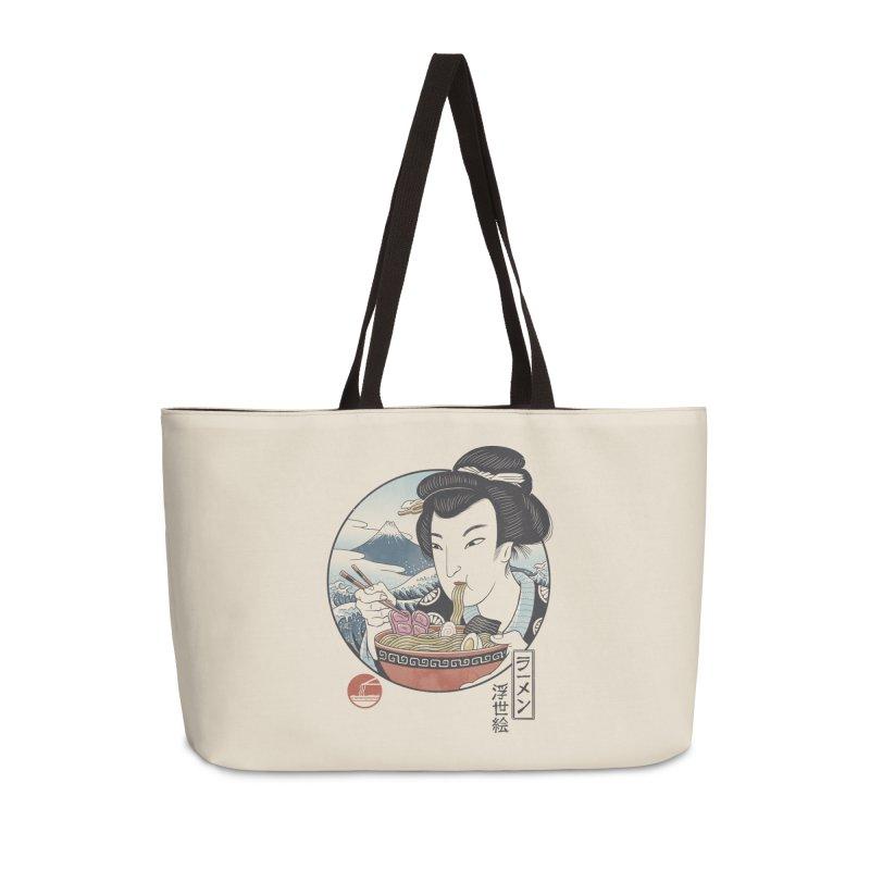 A Taste of Japan Accessories Weekender Bag Bag by Vincent Trinidad Art