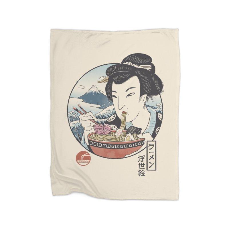 A Taste of Japan Home Fleece Blanket Blanket by Vincent Trinidad Art