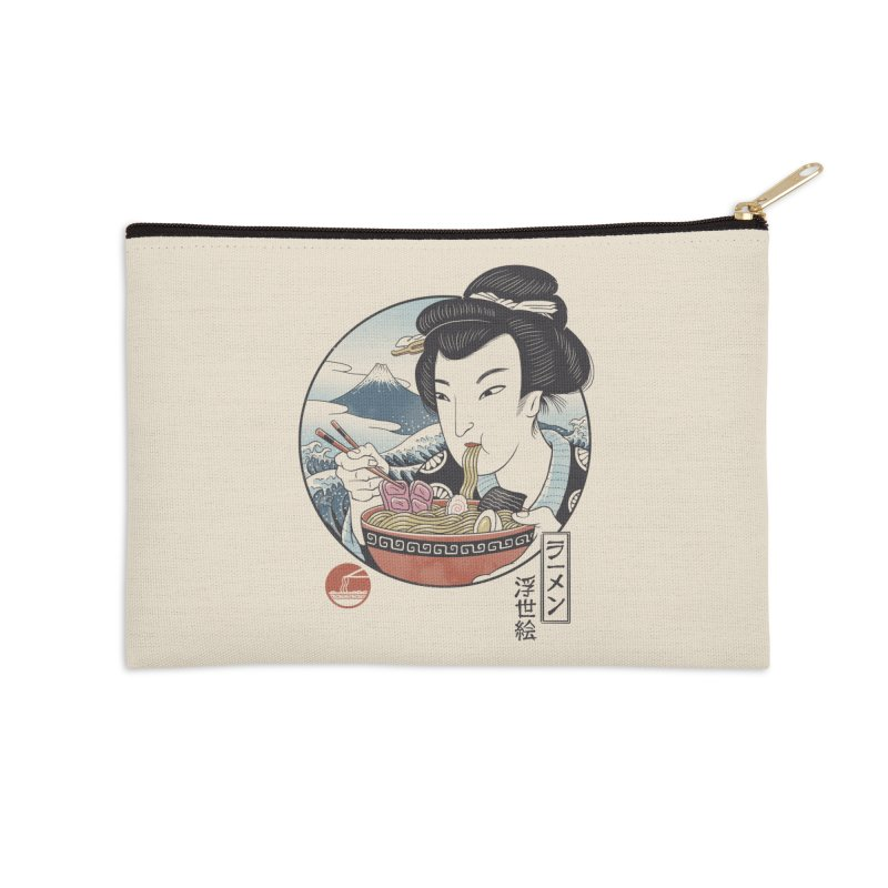 A Taste of Japan Accessories Zip Pouch by Vincent Trinidad Art